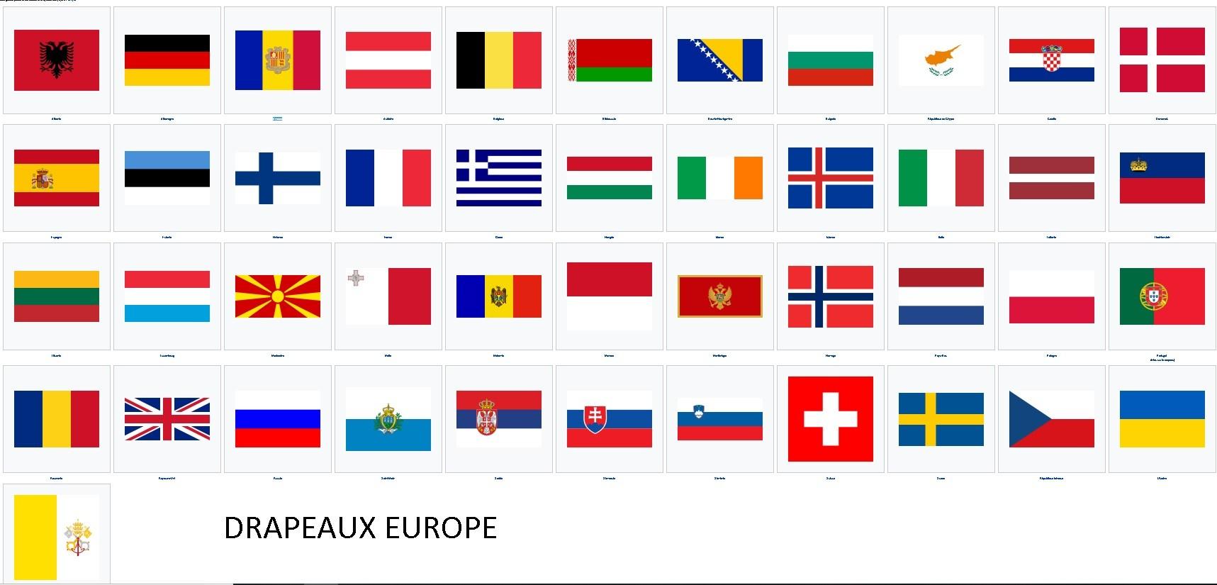 Autocollants Des Drapeaux D'europe concernant Drapeaux Européens À Imprimer