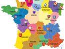 Avant/apres. Découvrez Les 13 Noms Des Nouvelles Régions De à Carte De France Avec Départements Et Préfectures