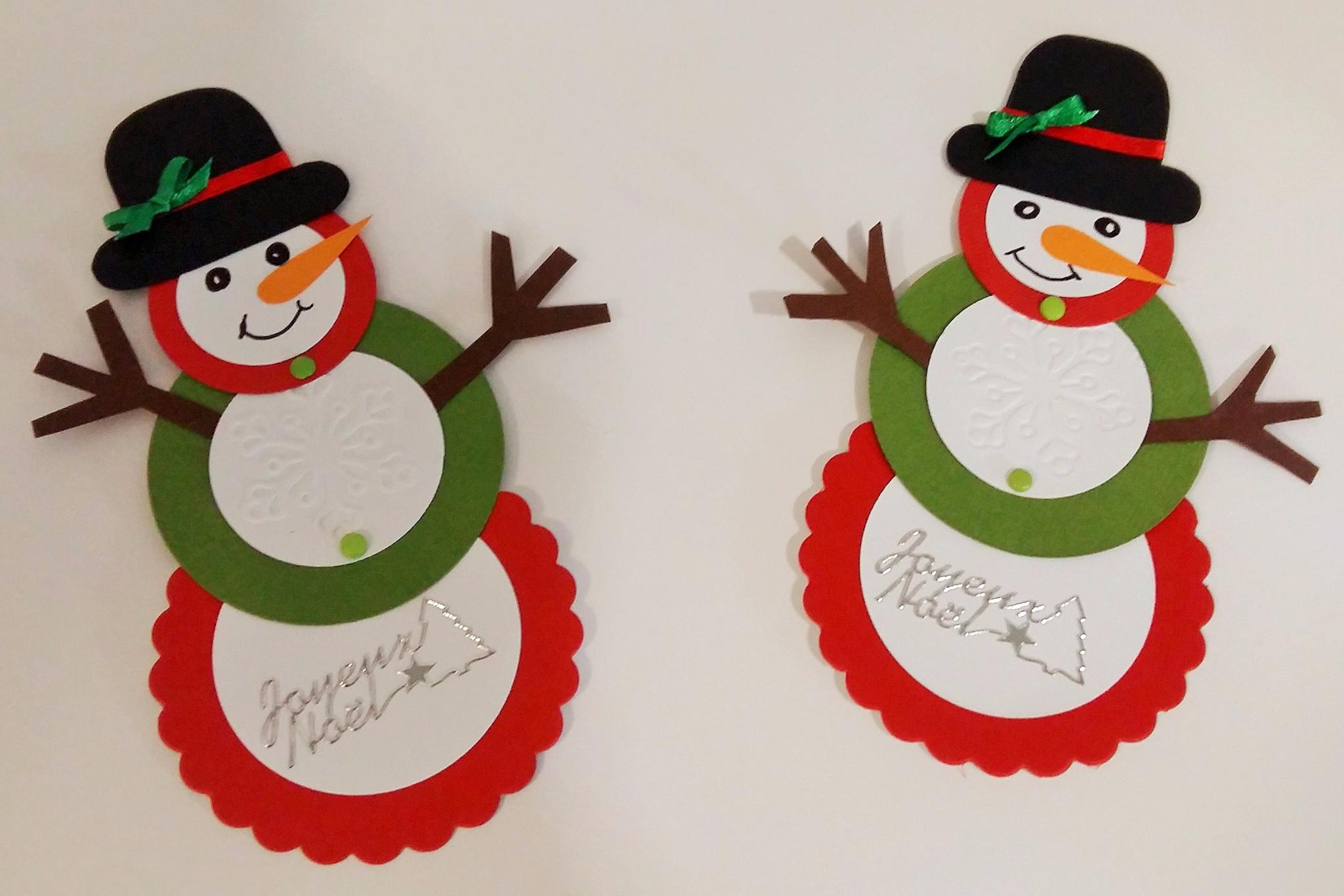 Avant Noel - Mes Créafolies pour Modèle Bonhomme De Neige À Découper