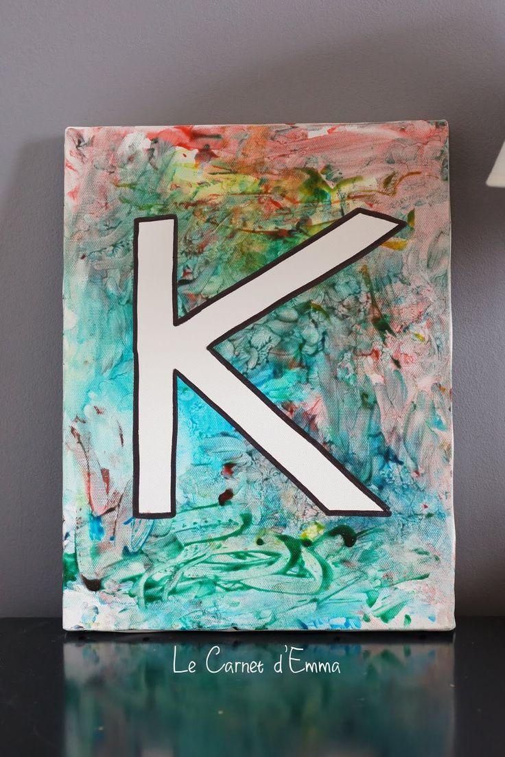Avec Mes 10 Doigts } Une Toile Et De La Peinture | Activité pour Activité Manuelle 4 Ans
