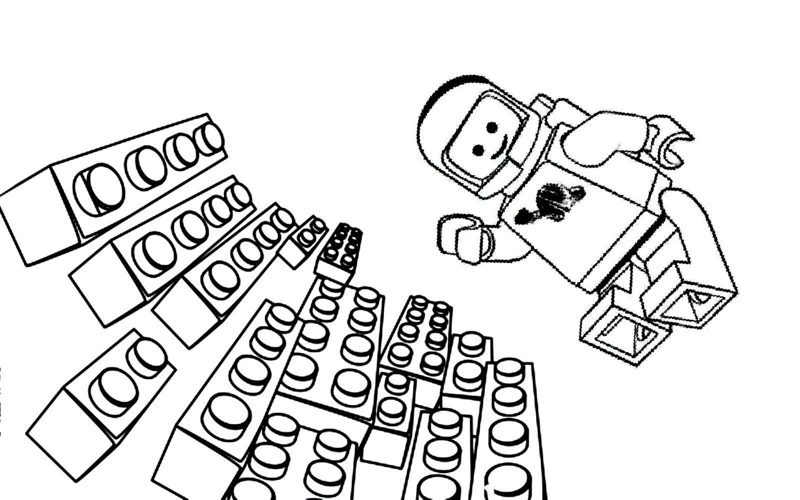 Aventure Lego Astronaute | Coloriage La Grande Aventure Lego concernant Coloriage Astronaute