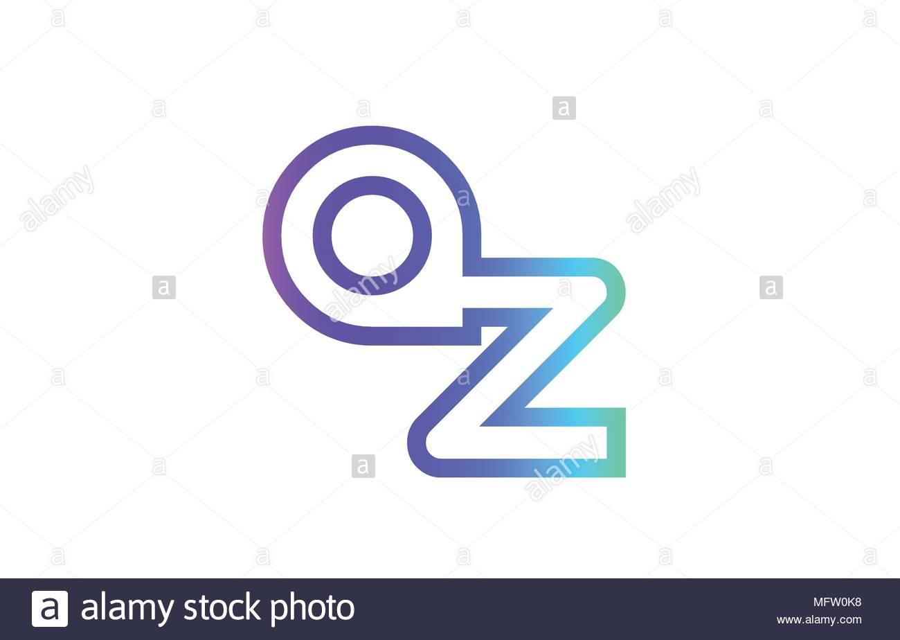 Az A Z Lettre Alphabet Combinaison Logo Vector Icône pour Modele De Lettre Alphabet