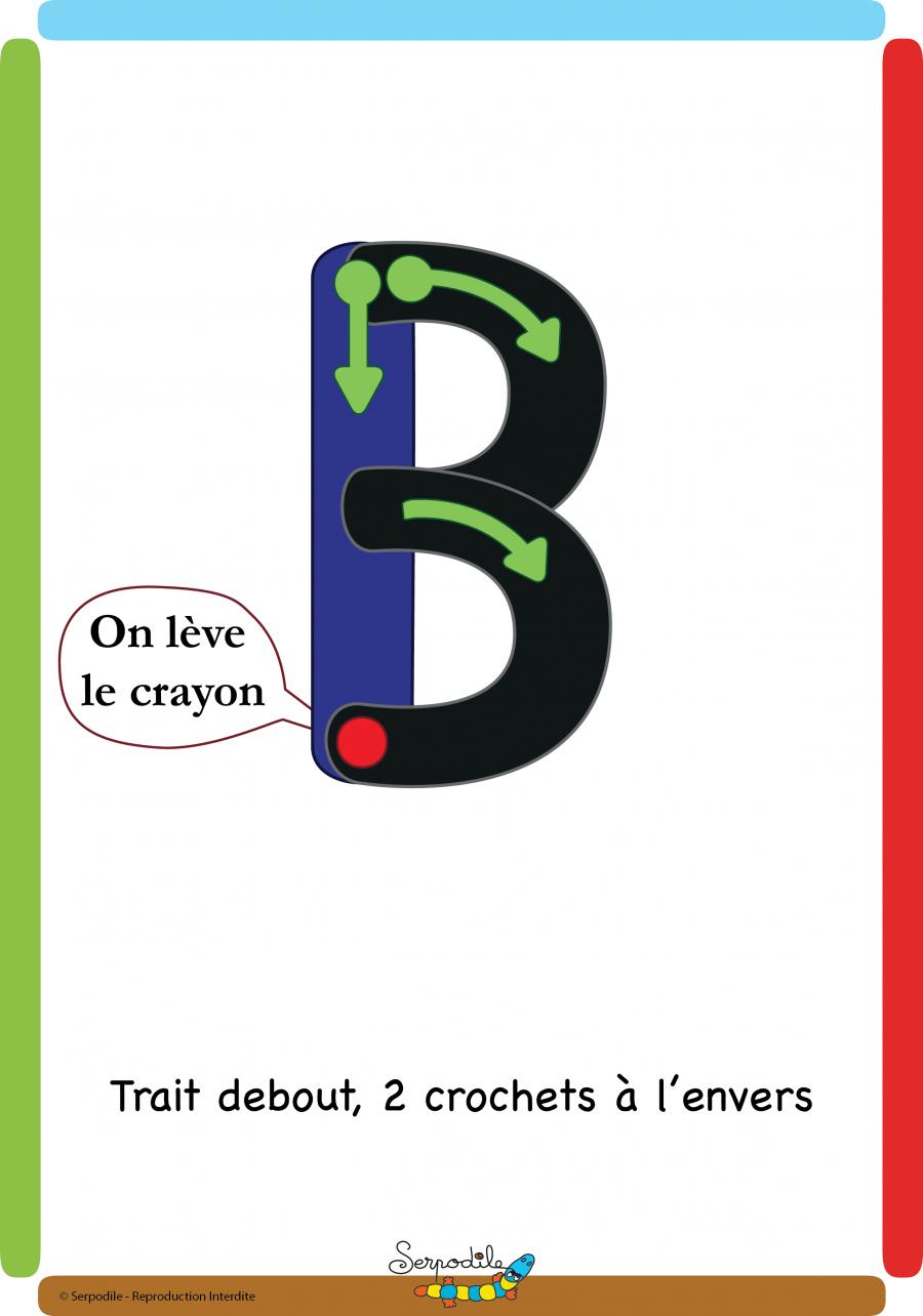 B En Majuscule Bâton | Écriture Lettres, Lettre A Et Ligne encequiconcerne Cahier Majuscule