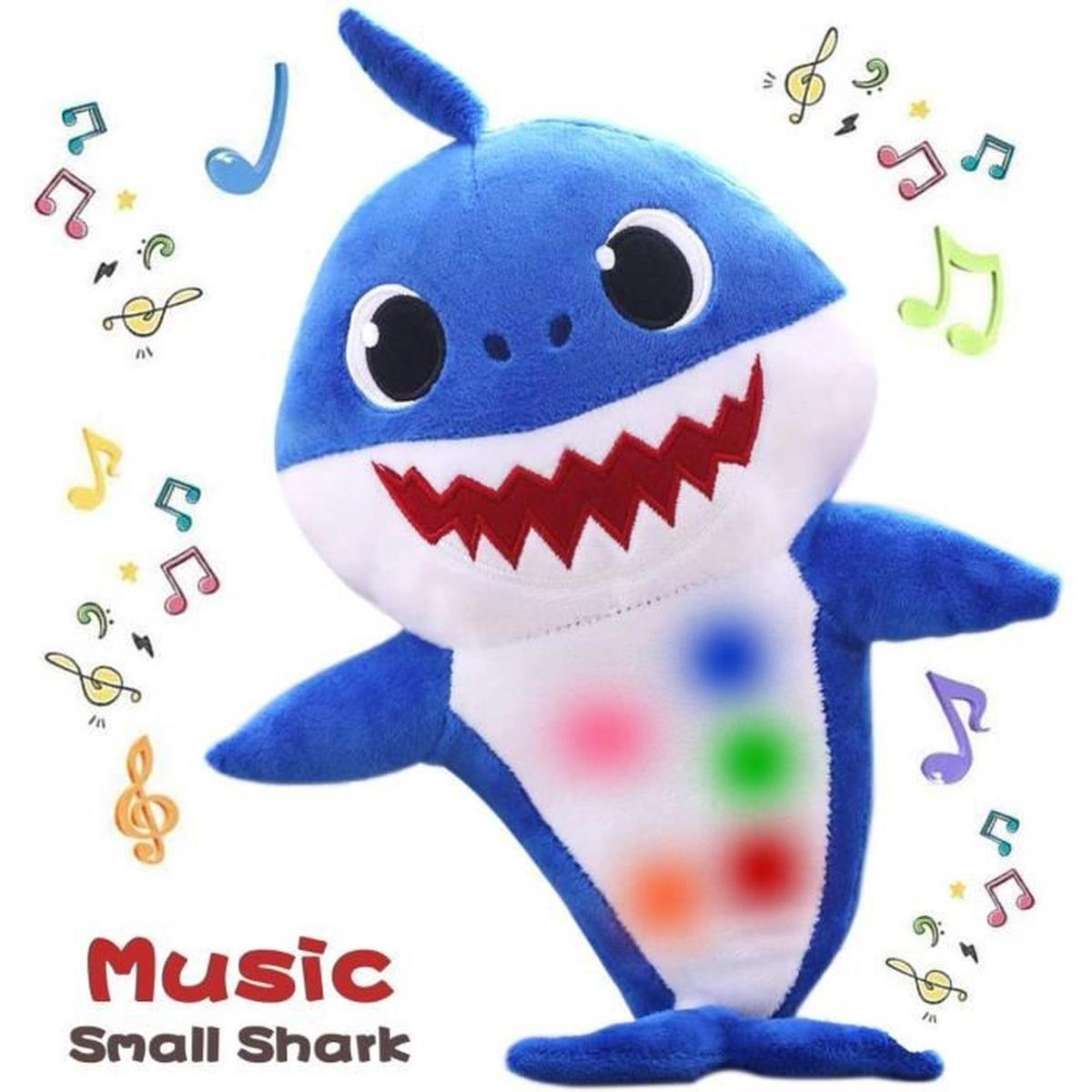 Baby Shark Jouets En Peluche Jouets En Chantant Animé intérieur Voiture Requin Jouet