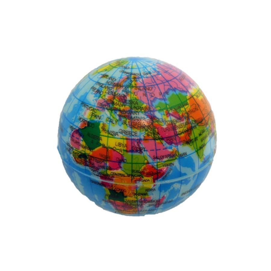 Balle Rebondissante Globe Terrestre - Jeu Jouet Softball Anti Stres encequiconcerne Jeux De Anti Stress