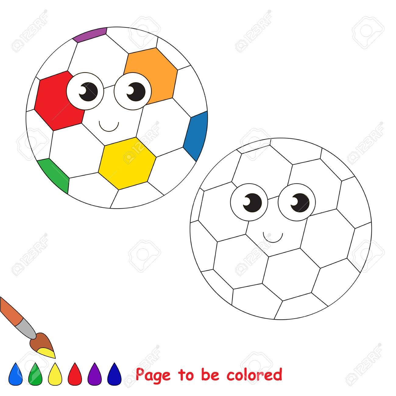 Ballon De Football Arc-En-Ciel À Colorier, Le Livre À Colorier Pour Éduquer  Les Enfants D'âge Préscolaire Avec Des Jeux Éducatifs Faciles Pour Les avec Arc En Ciel A Colorier