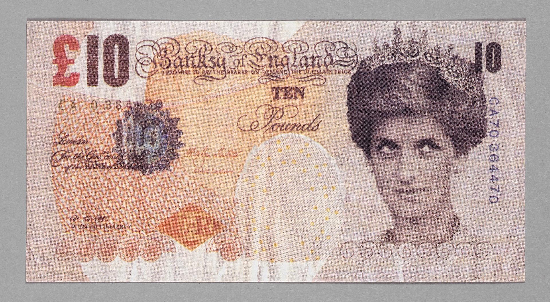 Banksy, Faux Billet De 10 Pound, Vente Aux Enchères tout Faux Billet A Imprimer