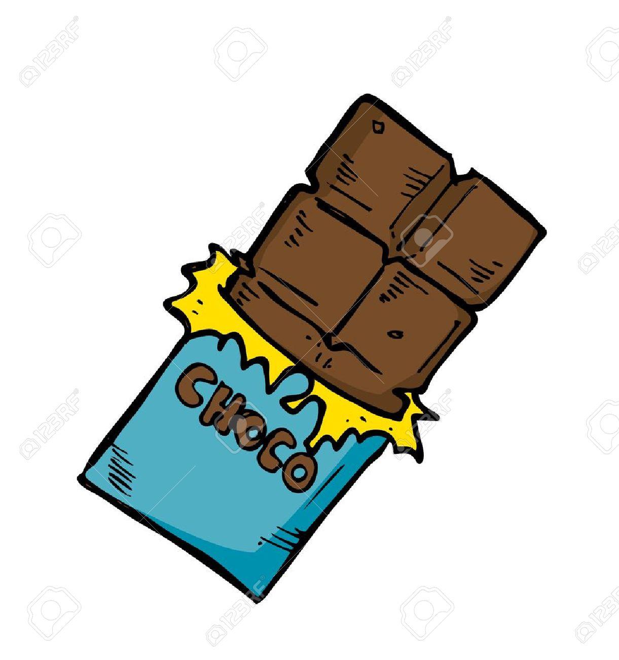 Banque Dimages Chocolat Dans Le Style Doodle. Barre Geste avec Tablette Chocolat Dessin