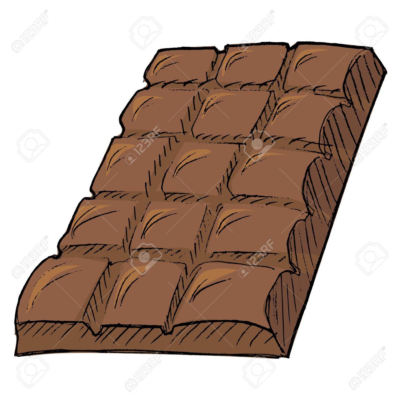 Banque Dimages Chocolat Dans Le Style Doodle. Barre Geste concernant Tablette Chocolat Dessin