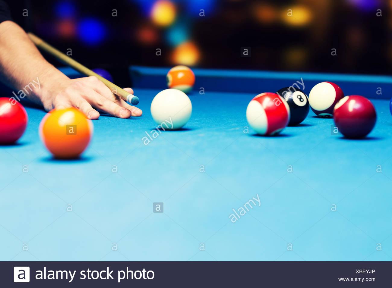 Bar - Jeux Billard Pool Banque D'images, Photo Stock tout Jeux De Biyare