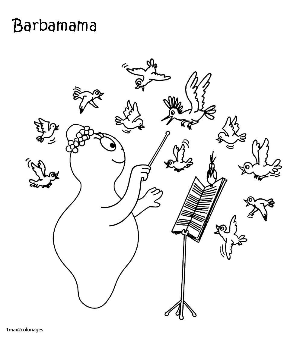 Barbamama | Schule avec Coloriage Barbapapa À Imprimer Gratuit