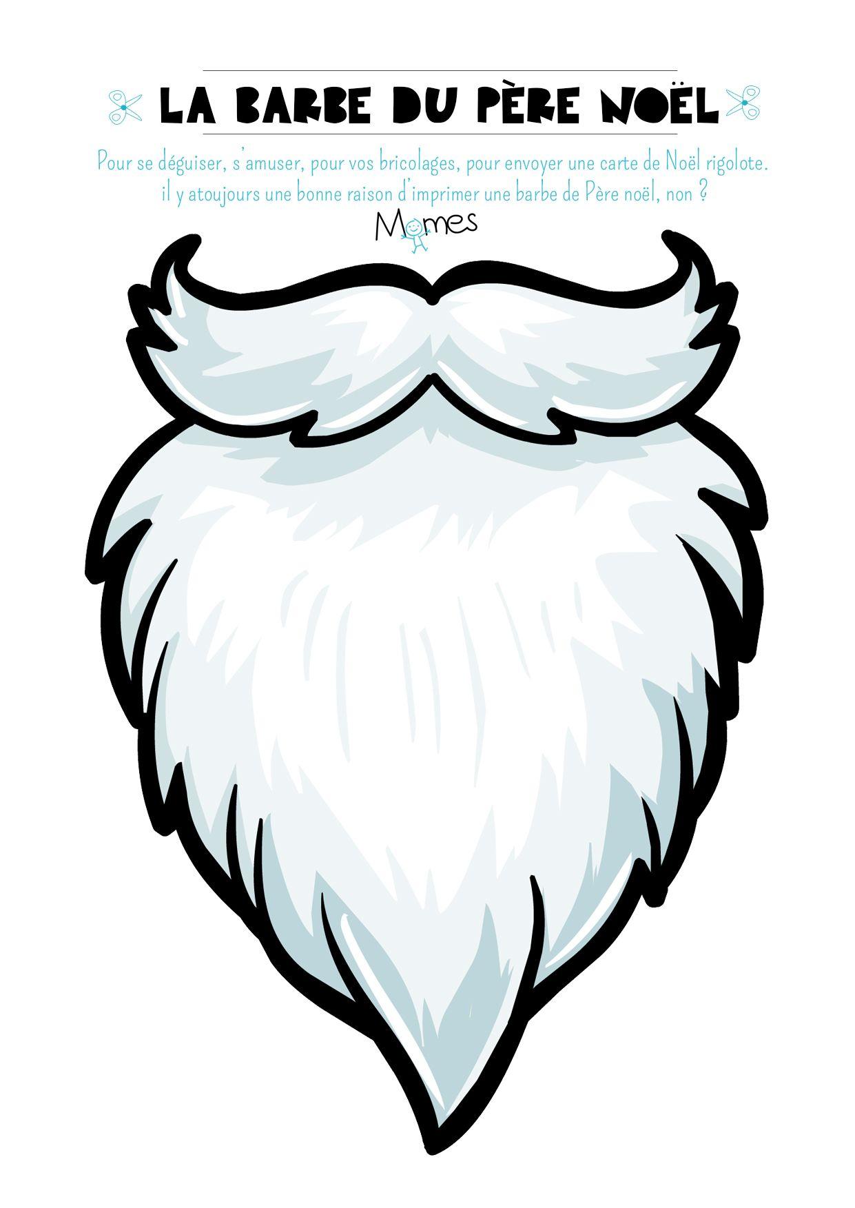 Barbe De Père Noël À Imprimer   Pere Noel A Imprimer, Barbe destiné Pere Noel A Imprimer Et A Decouper