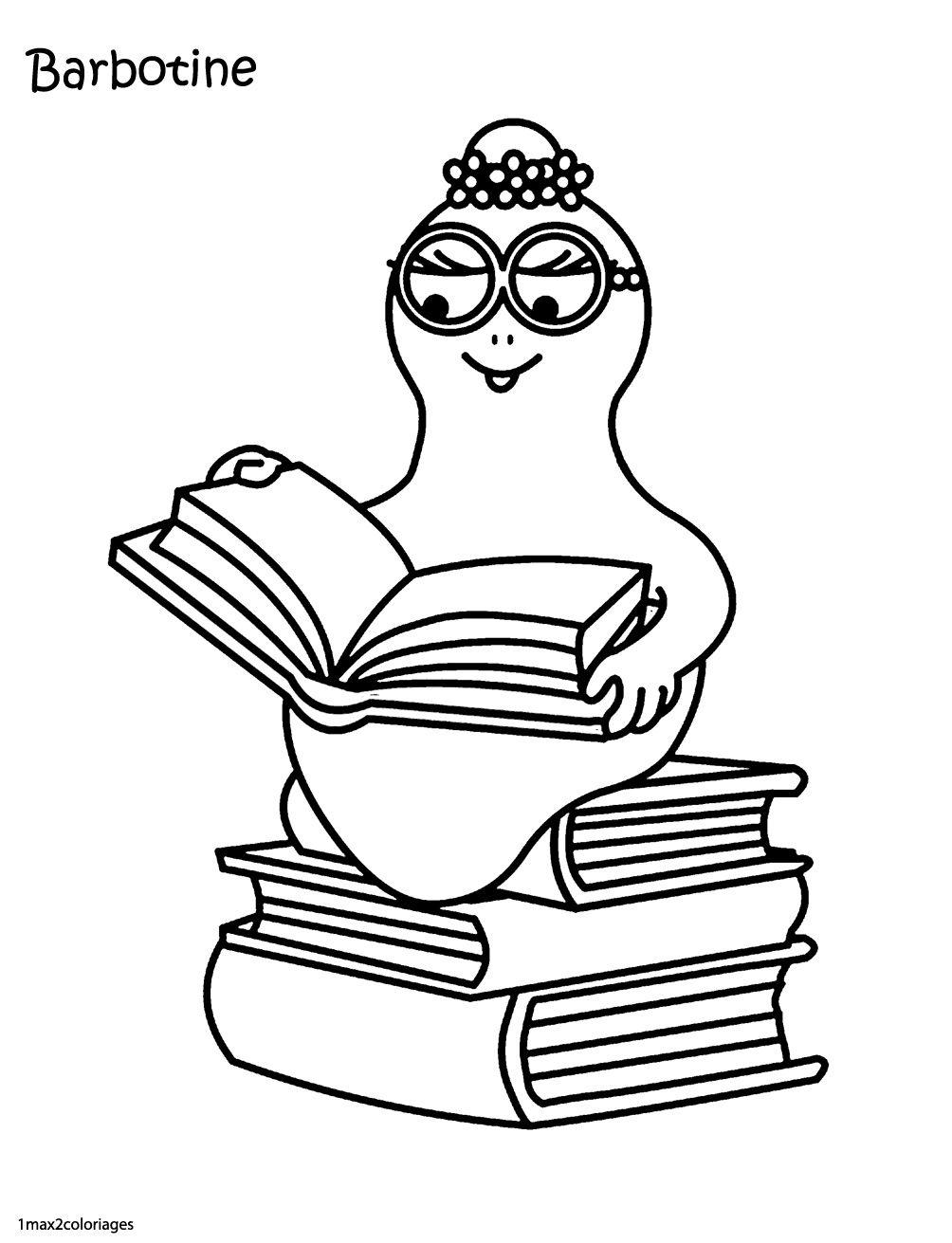 Barbotine Est Une Intellectuelle | Coloriage Barbapapa avec Coloriage Barbapapa À Imprimer Gratuit