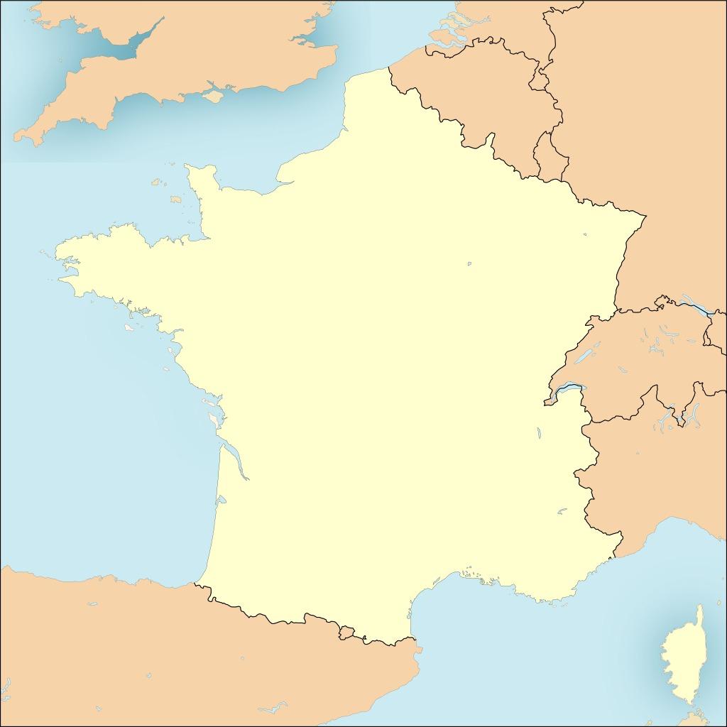 Bases De L'otan En France. Source : Http://data. Câble Sous tout Carte Vierge De La France