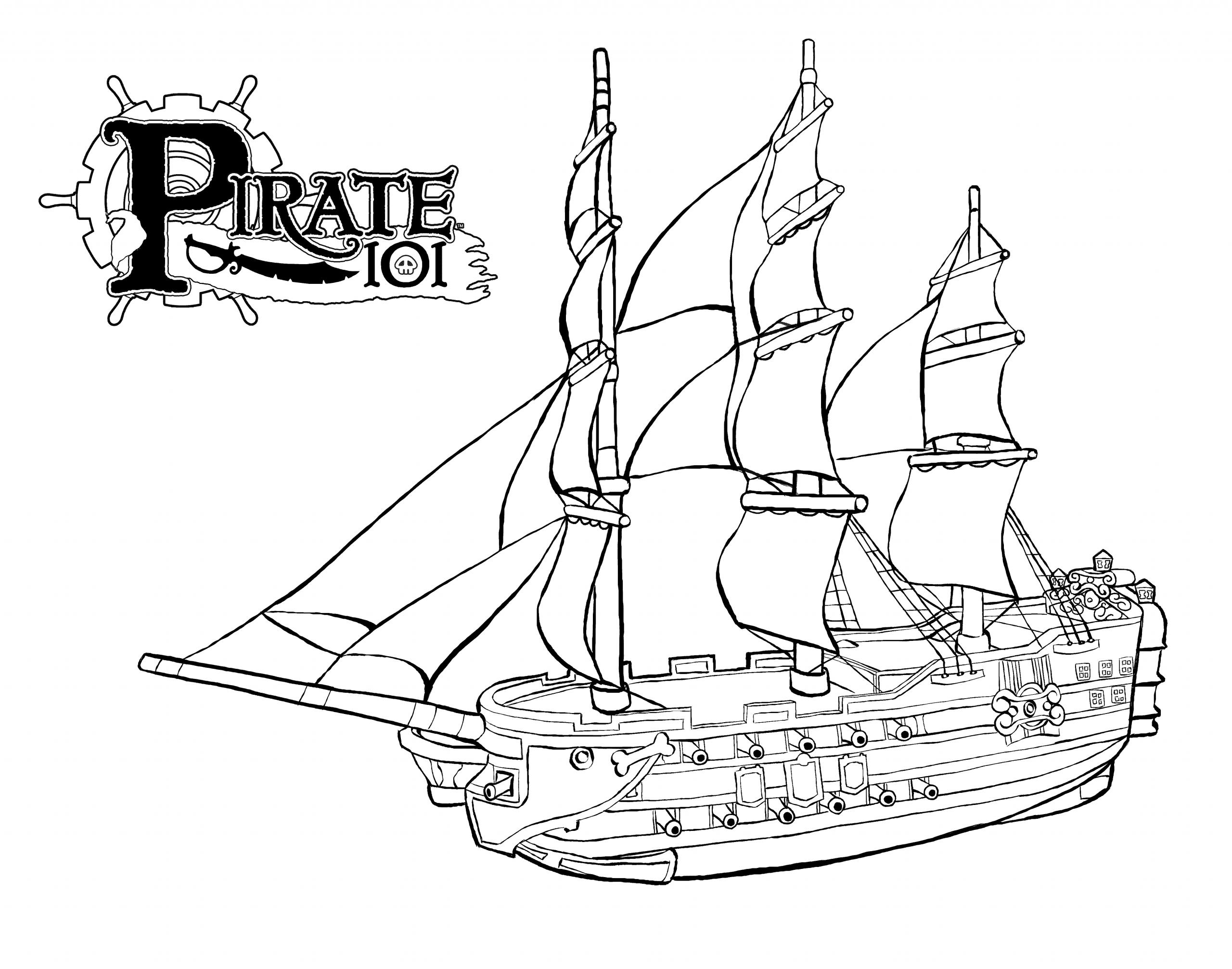 Bateau Pirate #11 (Transport) – Coloriages À Imprimer dedans Dessin A Imprimer De Pirate