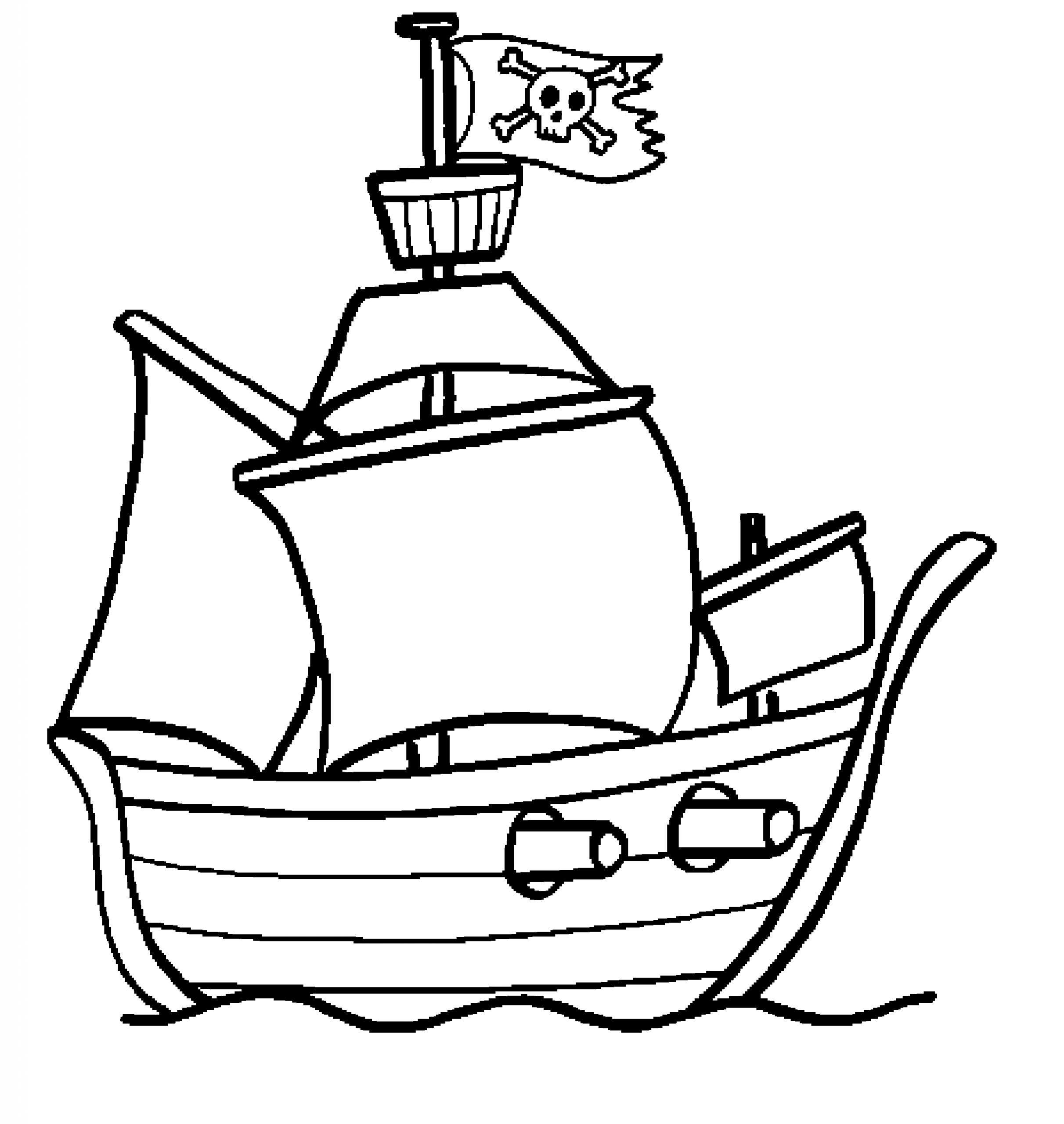 Bateau Pirate #13 (Transport) – Coloriages À Imprimer serapportantà Dessin A Imprimer De Pirate