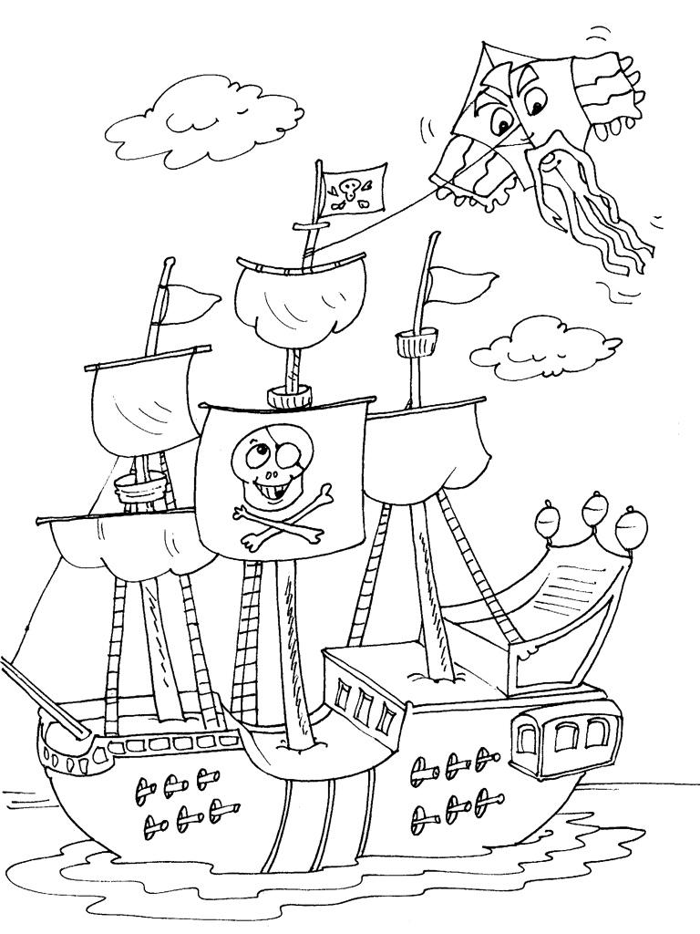 Bateau Pirate #17 (Transport) – Coloriages À Imprimer intérieur Dessin A Imprimer De Pirate