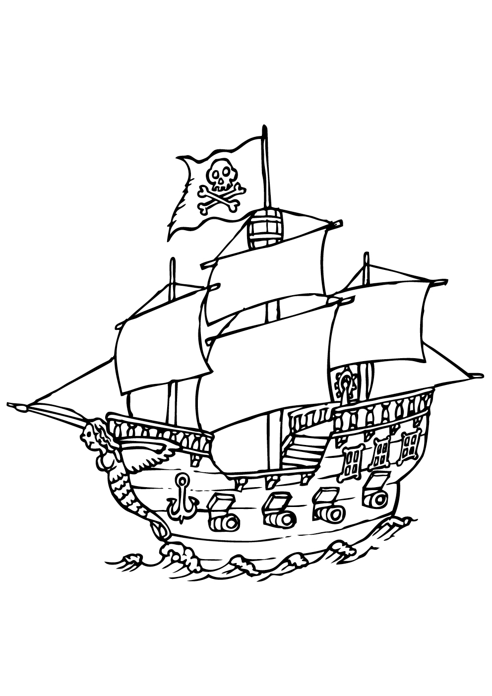 Bateau Pirate #25 (Transport) – Coloriages À Imprimer serapportantà Dessin A Imprimer De Pirate