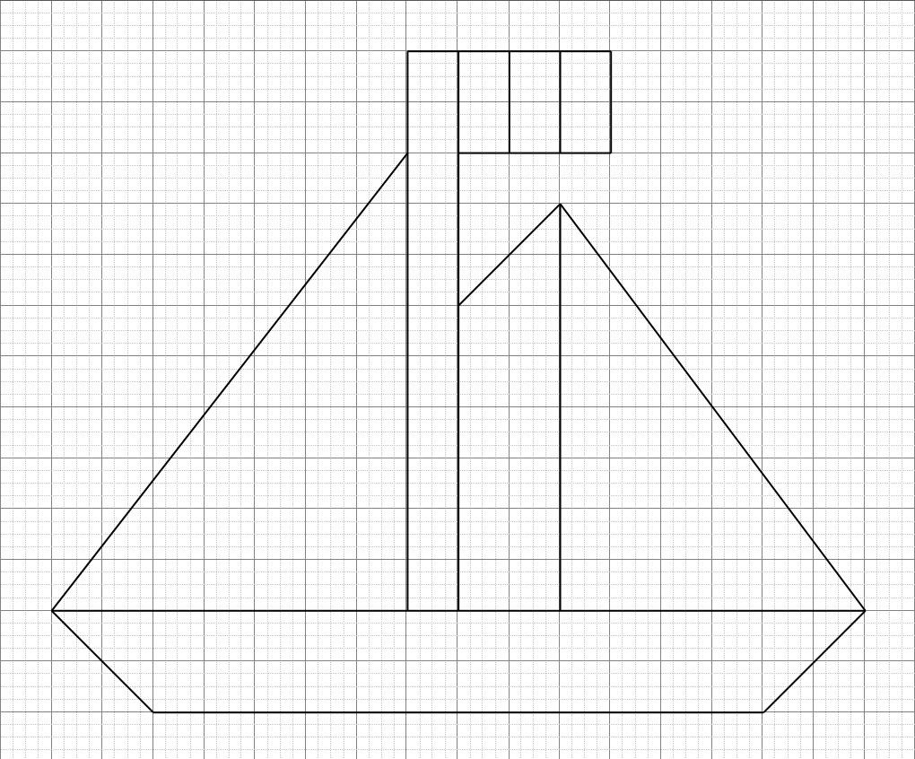 Bateau Quadrillage | Géométriquement destiné Reproduction Sur Quadrillage Ce2