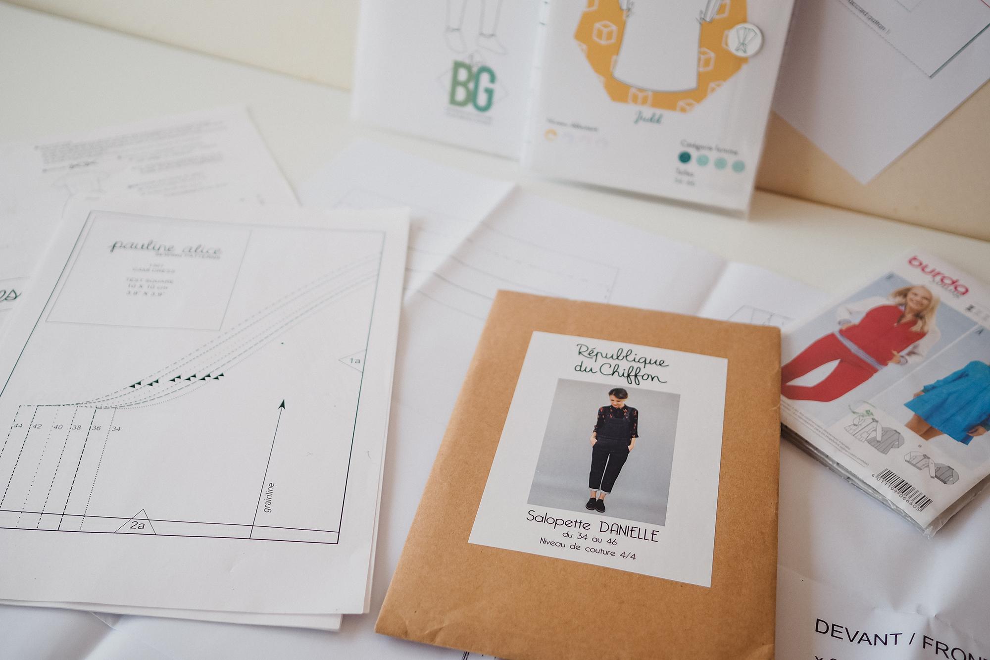 Battle : Patron Papier Vs Patron Pdf - Couture Débutant serapportantà Patron De Maison En Papier A Imprimer