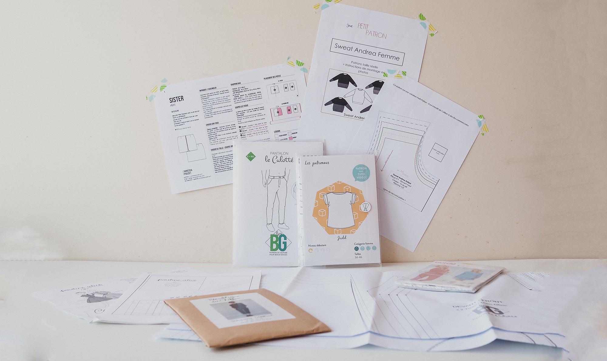 Battle : Patron Papier Vs Patron Pdf - Couture Débutant tout Patron De Maison En Papier A Imprimer