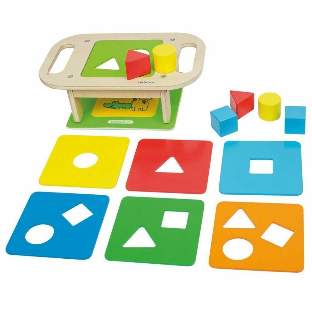 Beleduc Jeu De Formes En Bois Multicolore Jouet Educatif pour Jeux Enfant Educatif