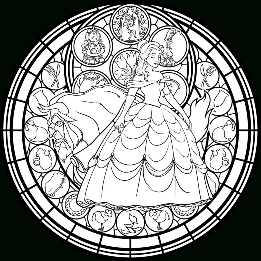 Belle Stained Glass: Vector -Coloring Page- By Akili pour Jeux De Coloriage De Rosace