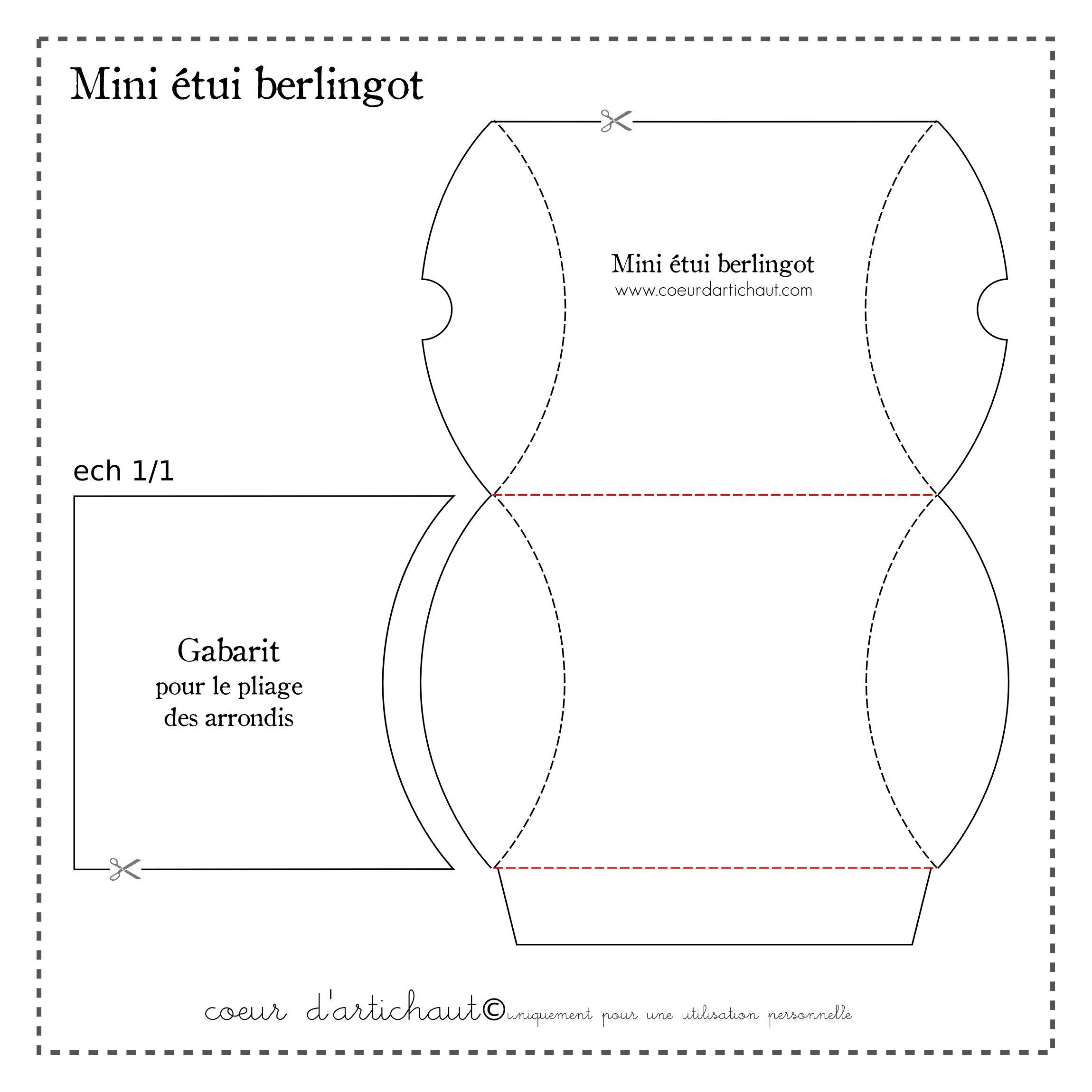 Berlingot Base | Boîtes Berlingot, Boite Cadeau, Boite Dragées avec Patron Pour Boite En Carton