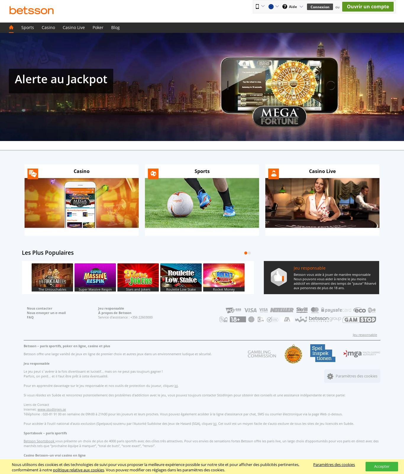 Bets Son Casino Review - Scam Report Betsson | Dec 28 pour Jeux Ludique En Ligne
