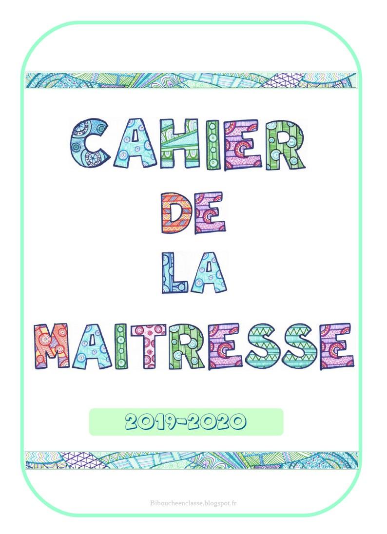 Bibouche En Classe : Cahier De La Maitresse 2019-2020 intérieur Journal De Vacances A Imprimer