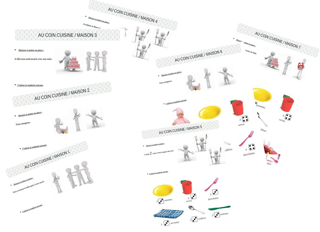Bibouche En Classe : Coin Jeu Et Histoires: Cuisine/maison tout Jeux Maternelle Moyenne Section