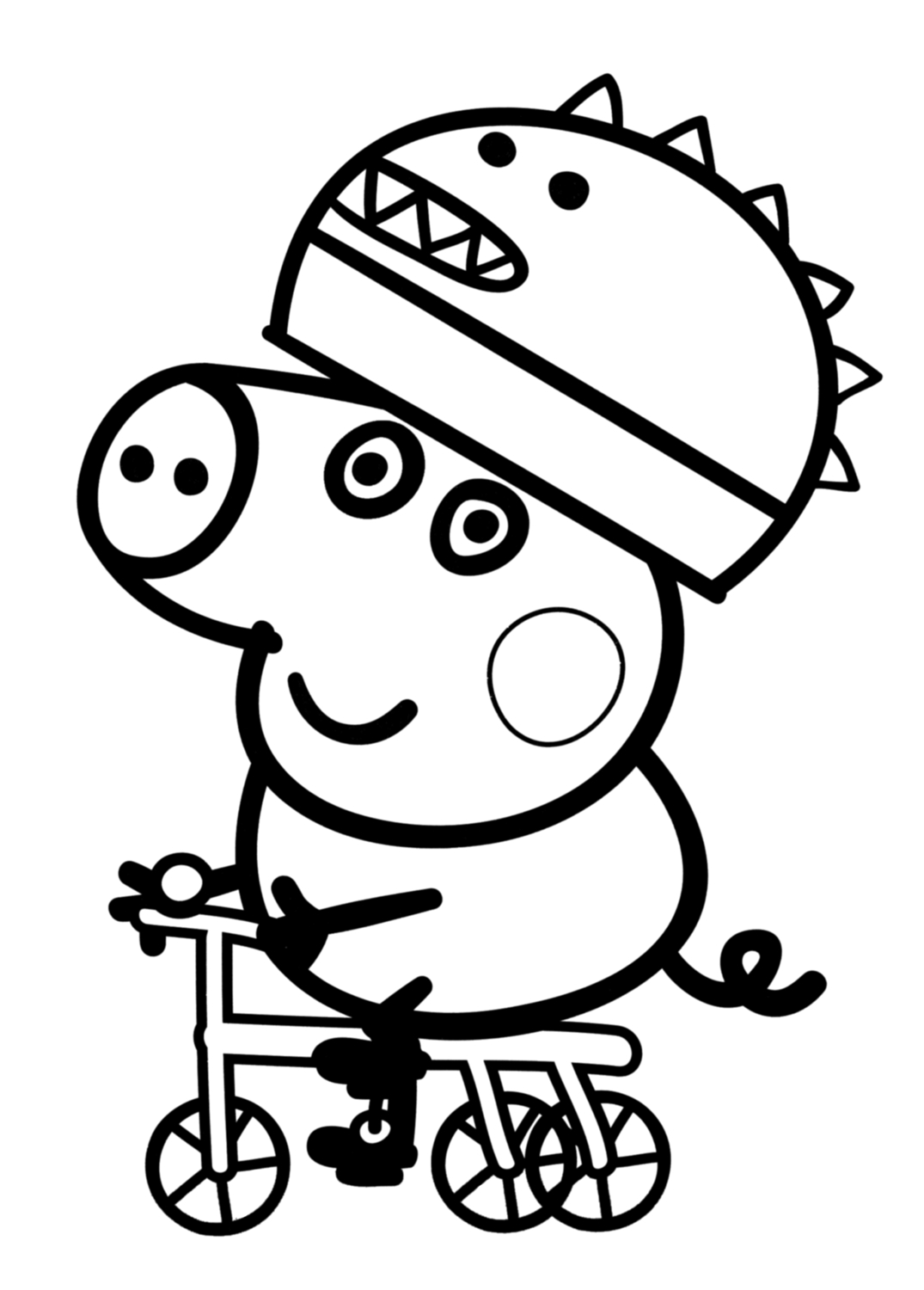Bicycle Peppa Pig George Coloring Pages #2568 Peppa Pig encequiconcerne Peppa Pig A Colorier