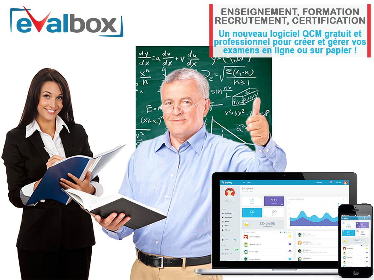 Bienvenue | Evalbox - Logiciel Qcm En Ligne Gratuit avec Quiz En Ligne Gratuit