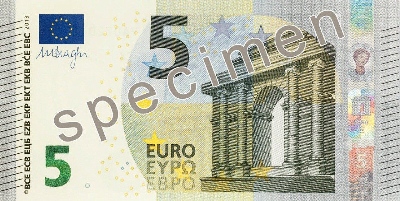 Billet D'un Dollar 5 Euros Argent - Photo Gratuite Sur Pixabay encequiconcerne Billet De 5 Euros À Imprimer