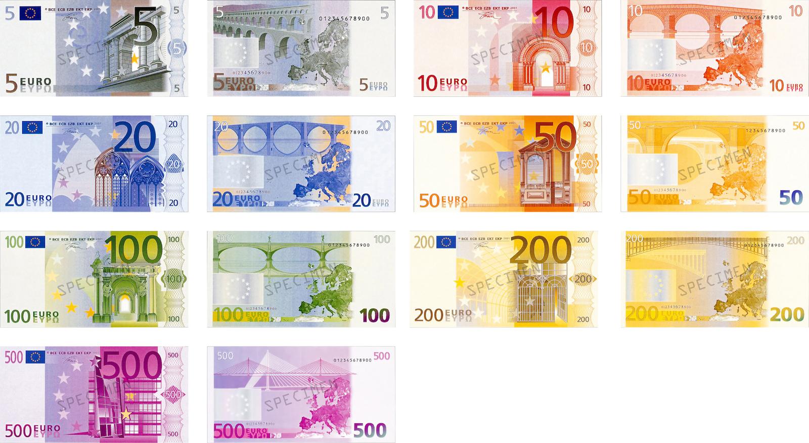 Billet Euro A Imprimer Pour Jouer avec Argent Factice À Imprimer