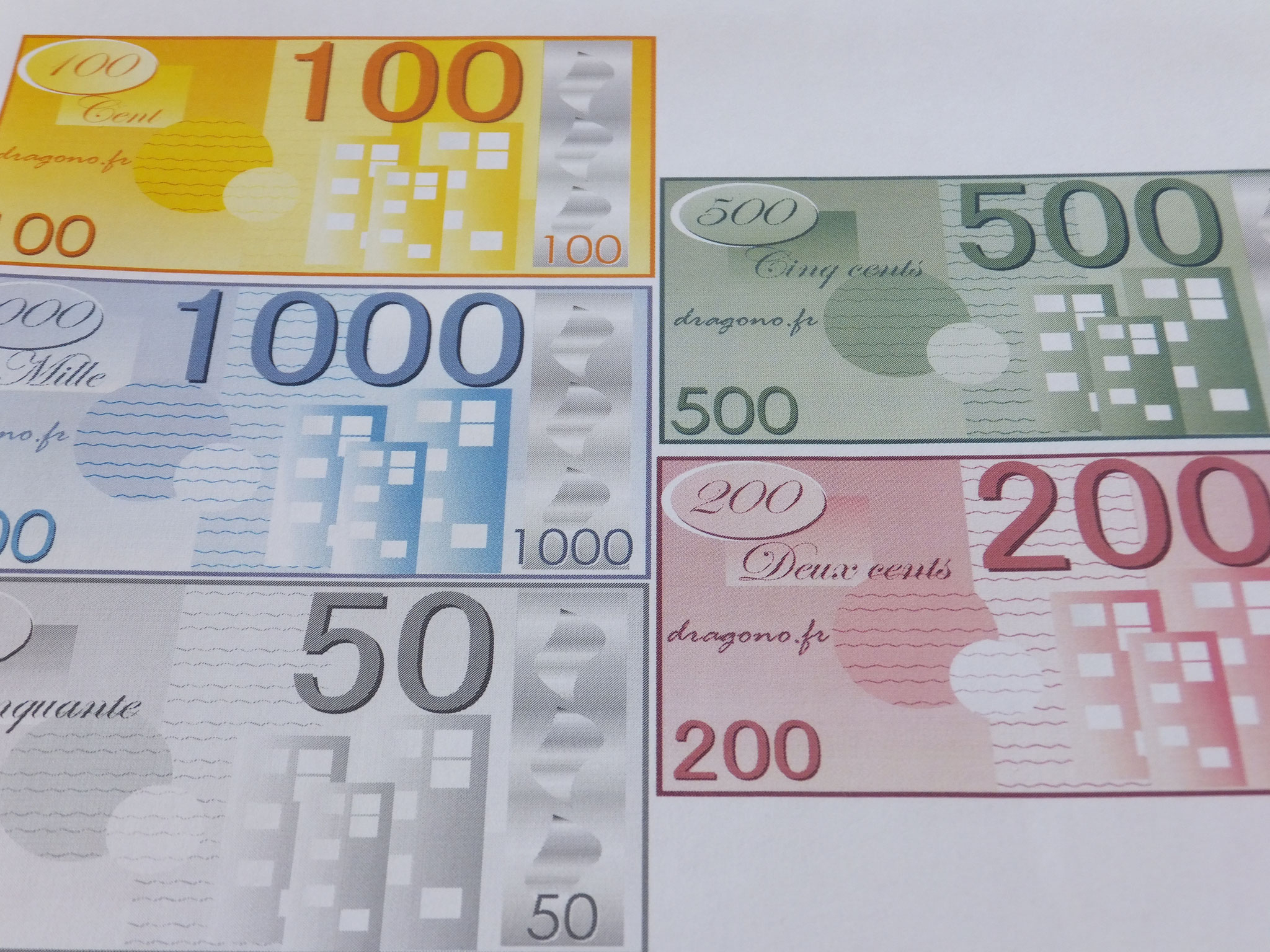 Billets De Fausse Monnaie À Imprimer-Jeux De Société concernant Billets Et Pièces En Euros À Imprimer