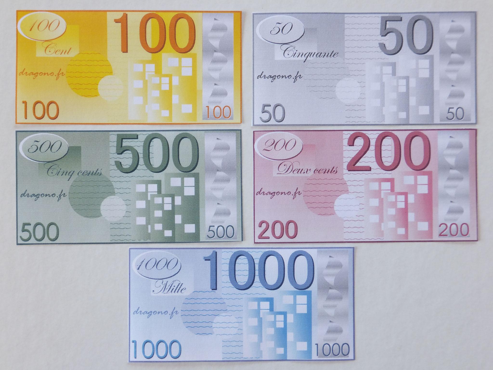Billets De Fausse Monnaie À Imprimer-Jeux De Société dedans Pièces Et Billets En Euros À Imprimer