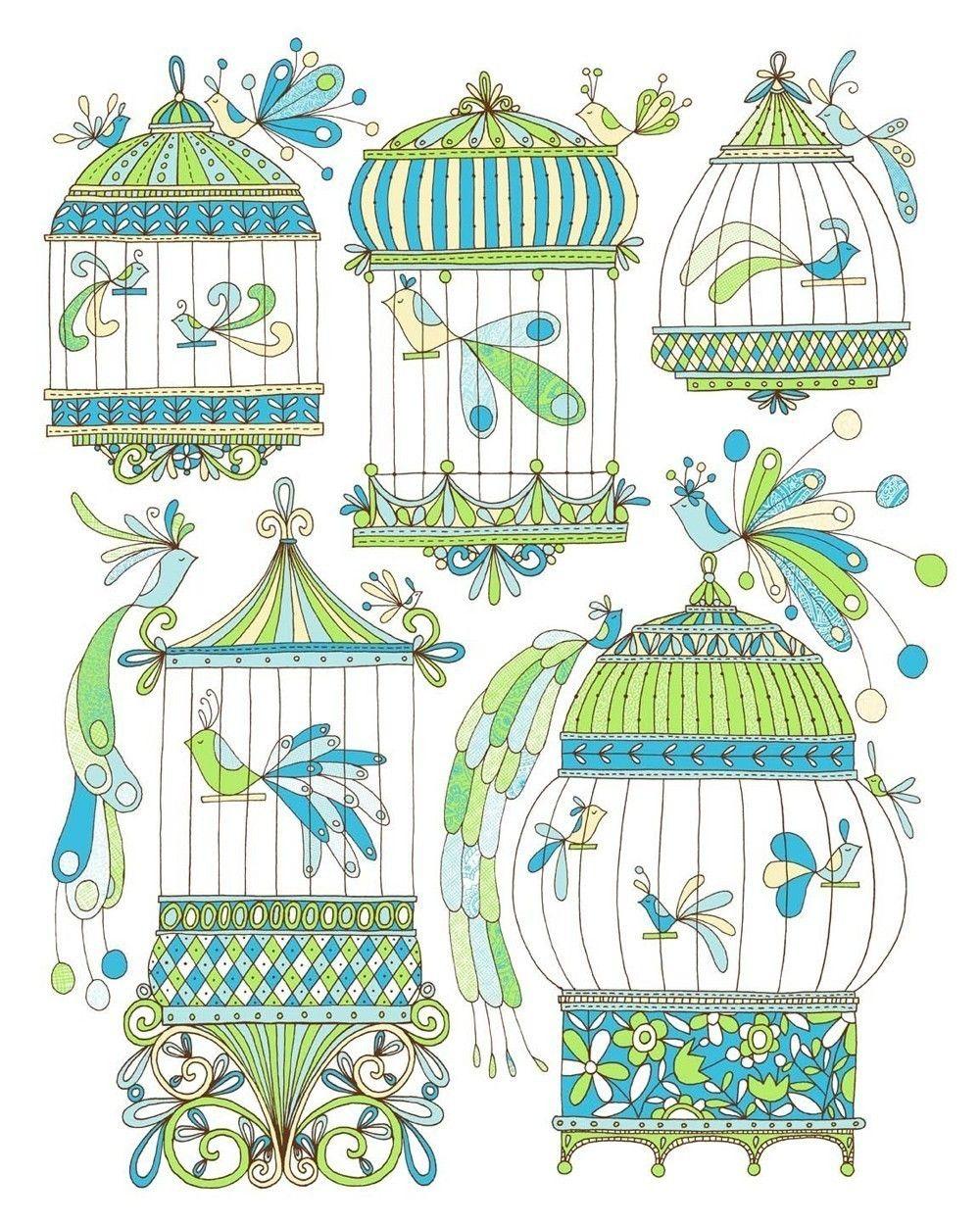 Bird Cages | Dessin Cage À Oiseaux, Art D'oiseau Et dedans Dessin De Cage D Oiseau