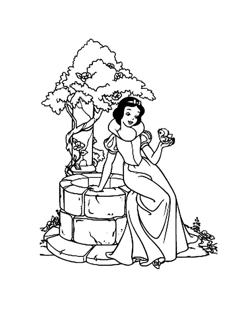 Blanche Neige 7 - Coloriage Blanche Neige Et Les Sept Nains intérieur Coloriage À Imprimer Chateau De Princesse