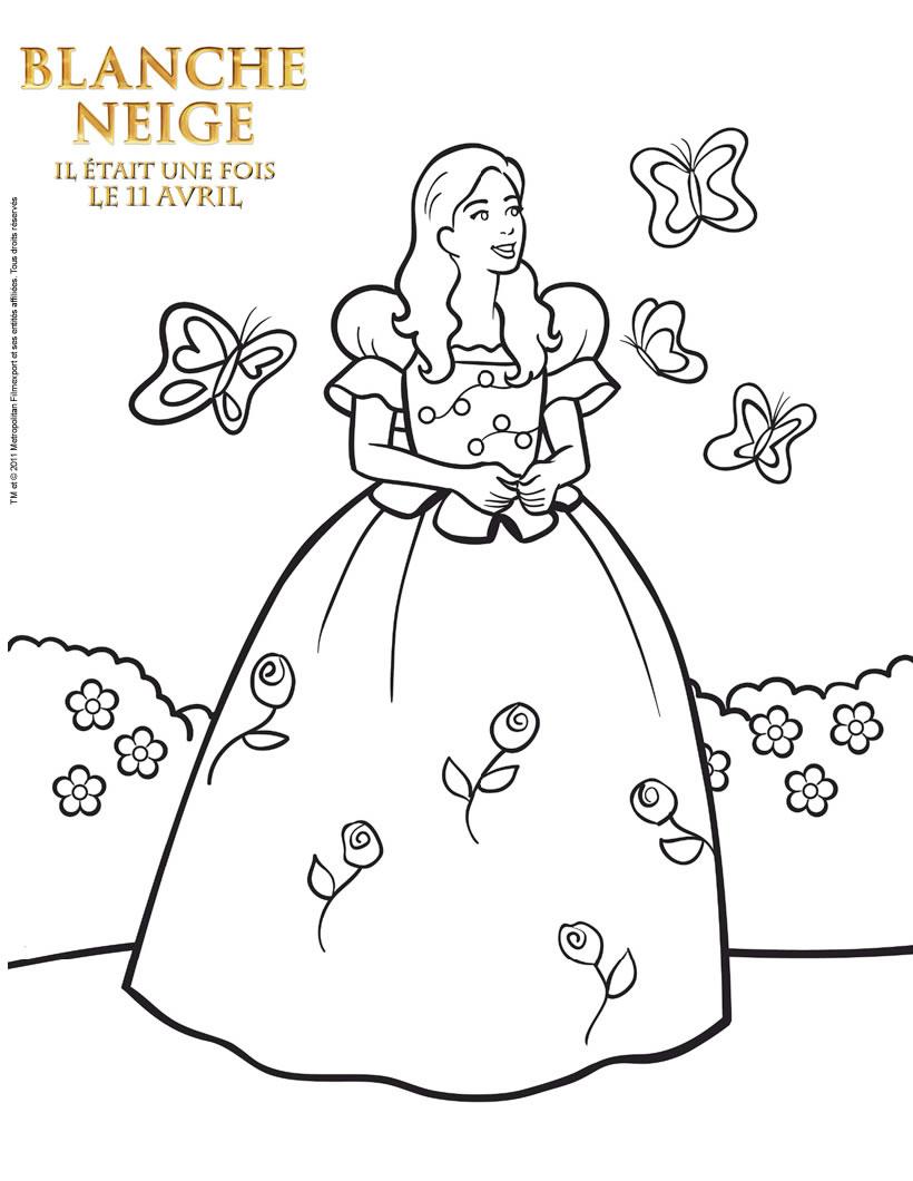 Blanche Neige À Colorier : A-Colorier.ploo.fr dedans Coloriage De Blanche Neige À Imprimer