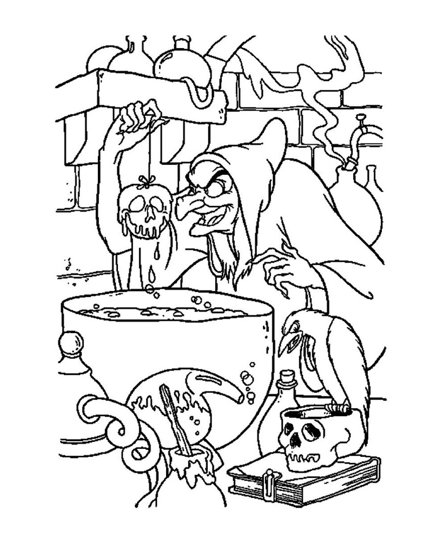 Blanche Neige Et Les Sept Nains #112 (Films D'animation destiné Blanche Neige À Colorier Et Imprimer