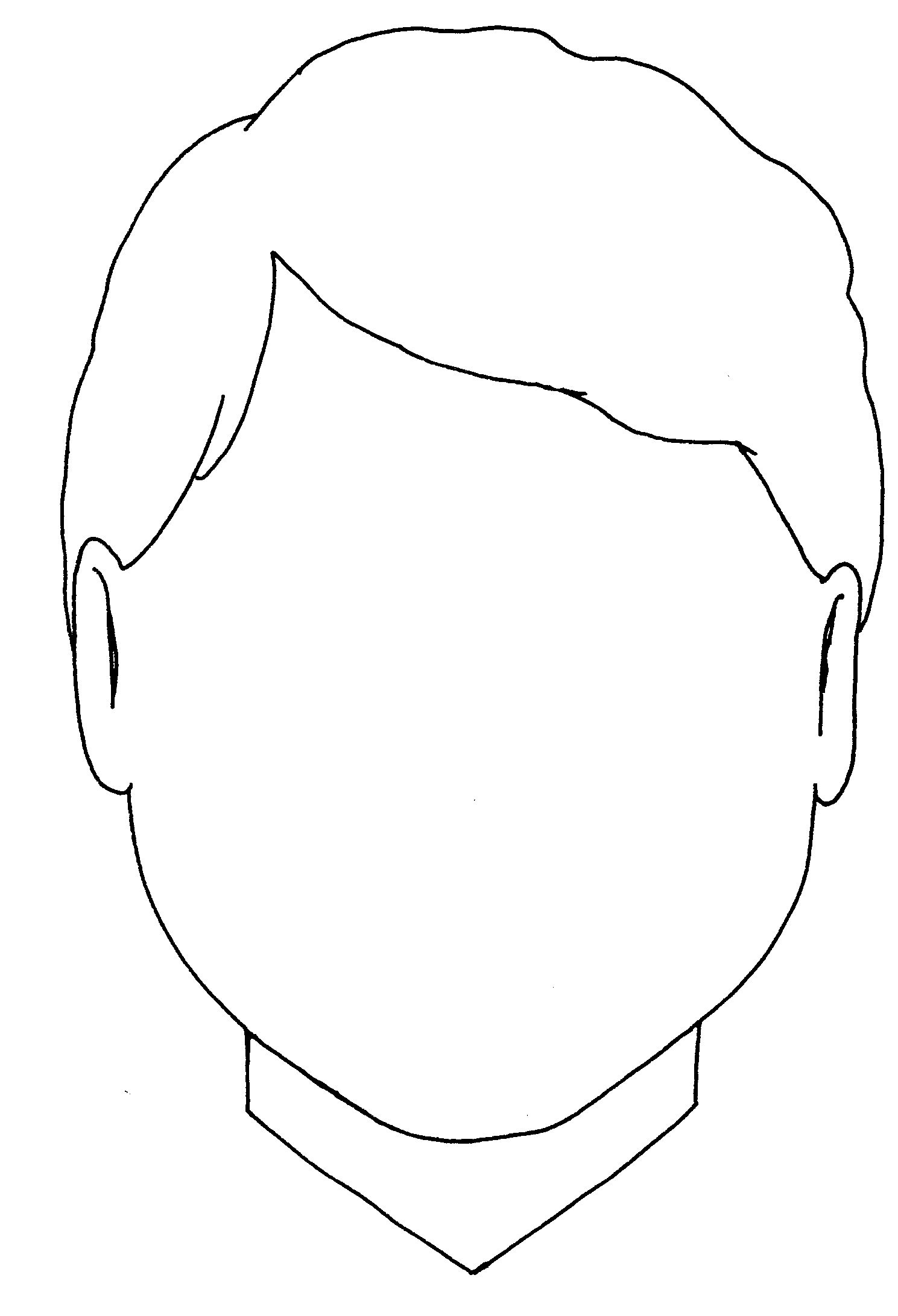 Blank Boy Face Colouring Coloring Pages - Quoteko. | Visage avec Visage À Colorier