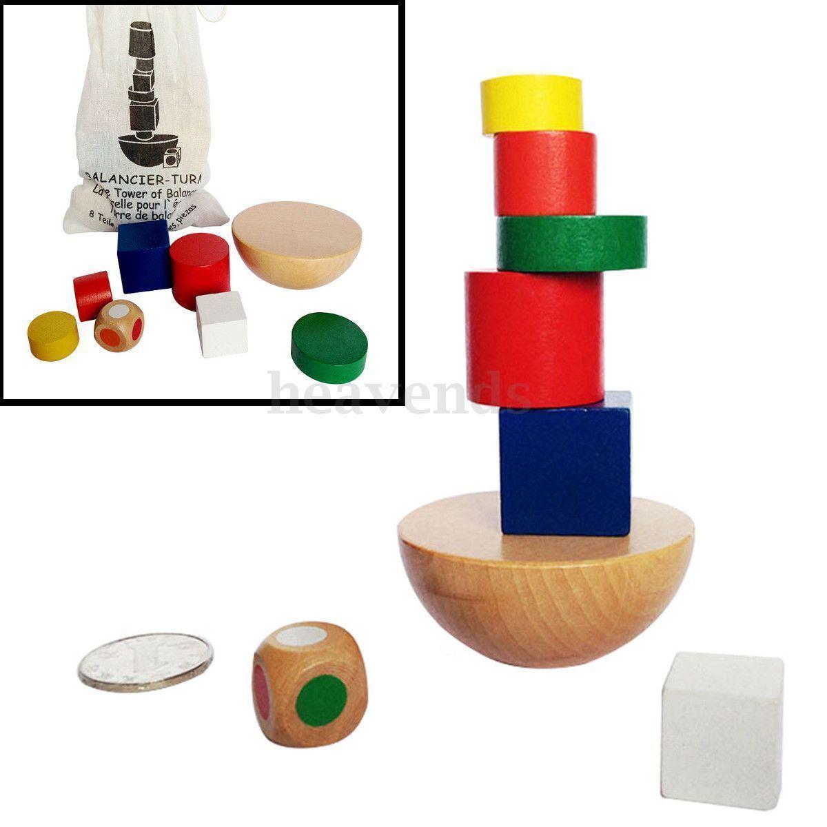 Bloc Cube Construction En Bois Jouet Equilibre Brique Sac destiné Casse Brique Enfant