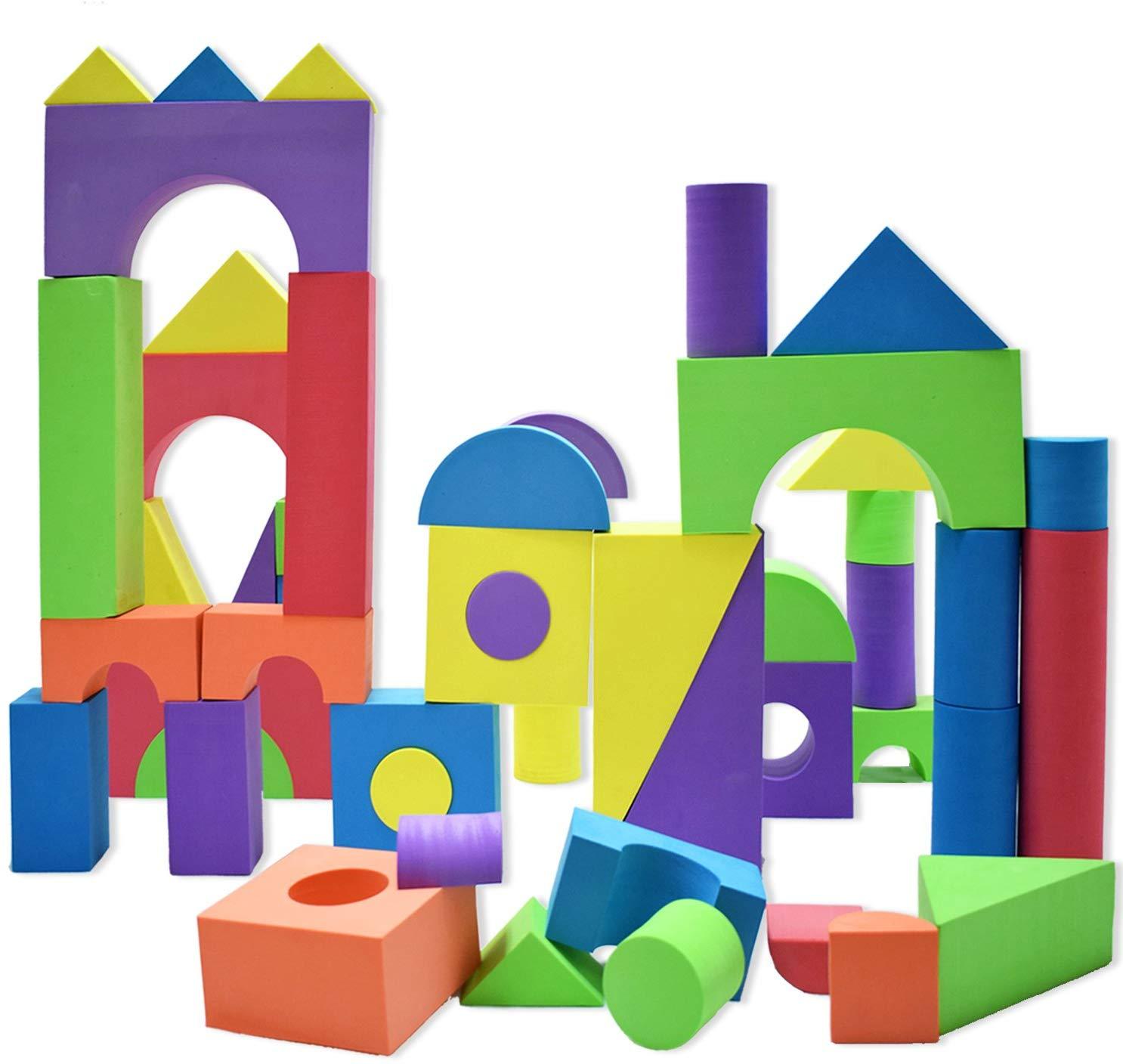 Blocs Géants En Mousse dedans Jeux Apprentissage Maternelle