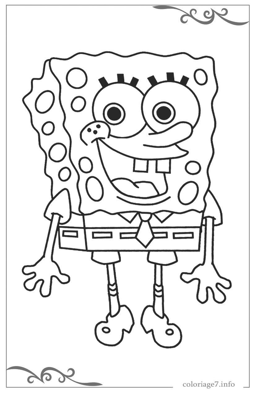 Bob L'éponge Coloriages À Imprimer Gratuits encequiconcerne Image Bob L Éponge A Imprimer