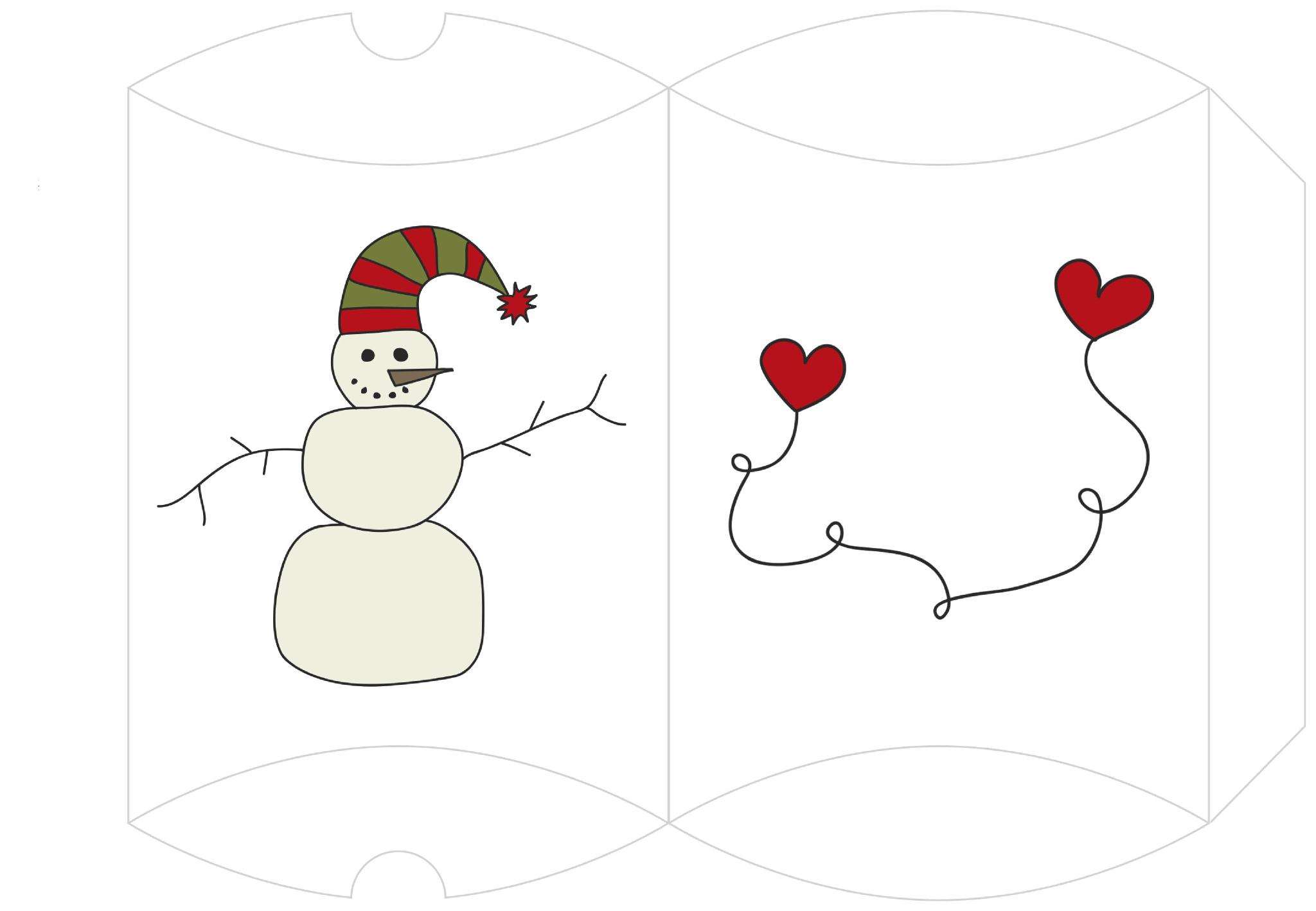 Boîte Cadeau À Imprimer - 1 2 3 Flo Bricole : Les à Boite De Noel A Imprimer