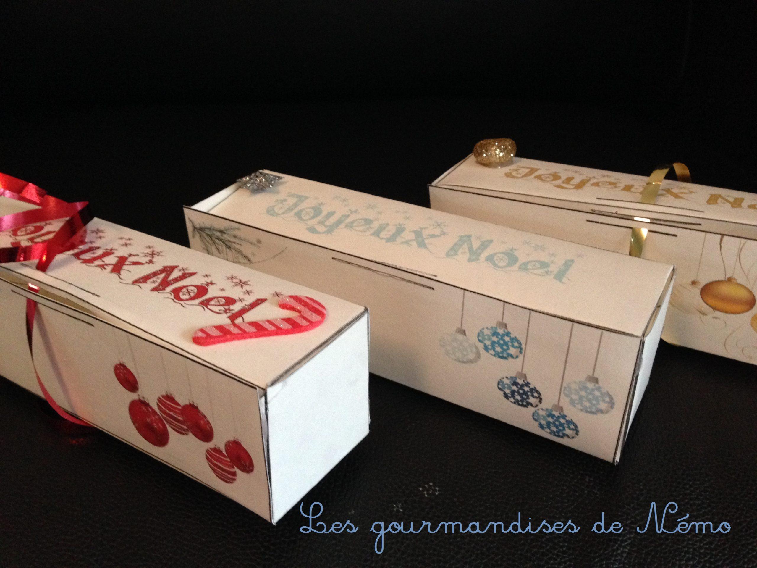 Boîte Macarons De Noël | Les Gourmandises De Némo avec Boite De Noel A Imprimer