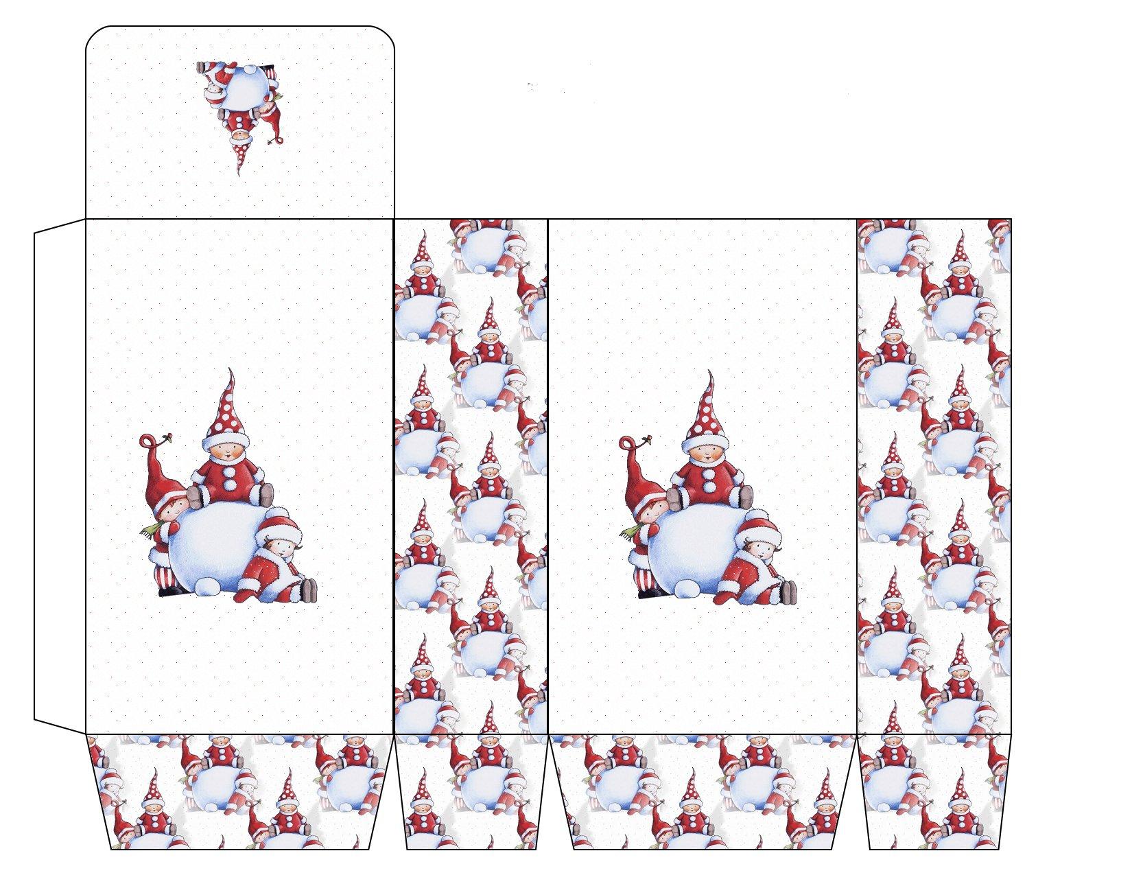 Boîtes Cadeaux Pour Les Fêtes - Mes Goûts Et Mes Couleurs concernant Boite De Noel A Imprimer