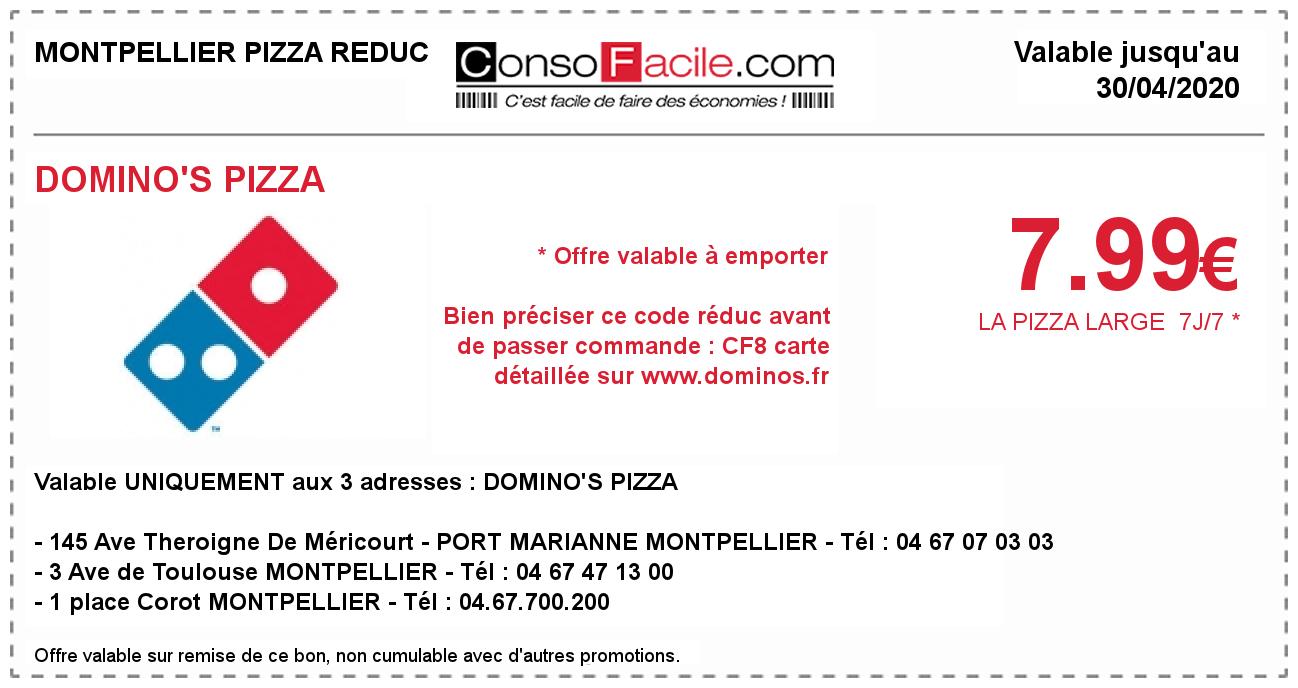 Bon De Réduction Domino's Pizza Sur Montpellier Pizza Reduc intérieur Dominos À Imprimer