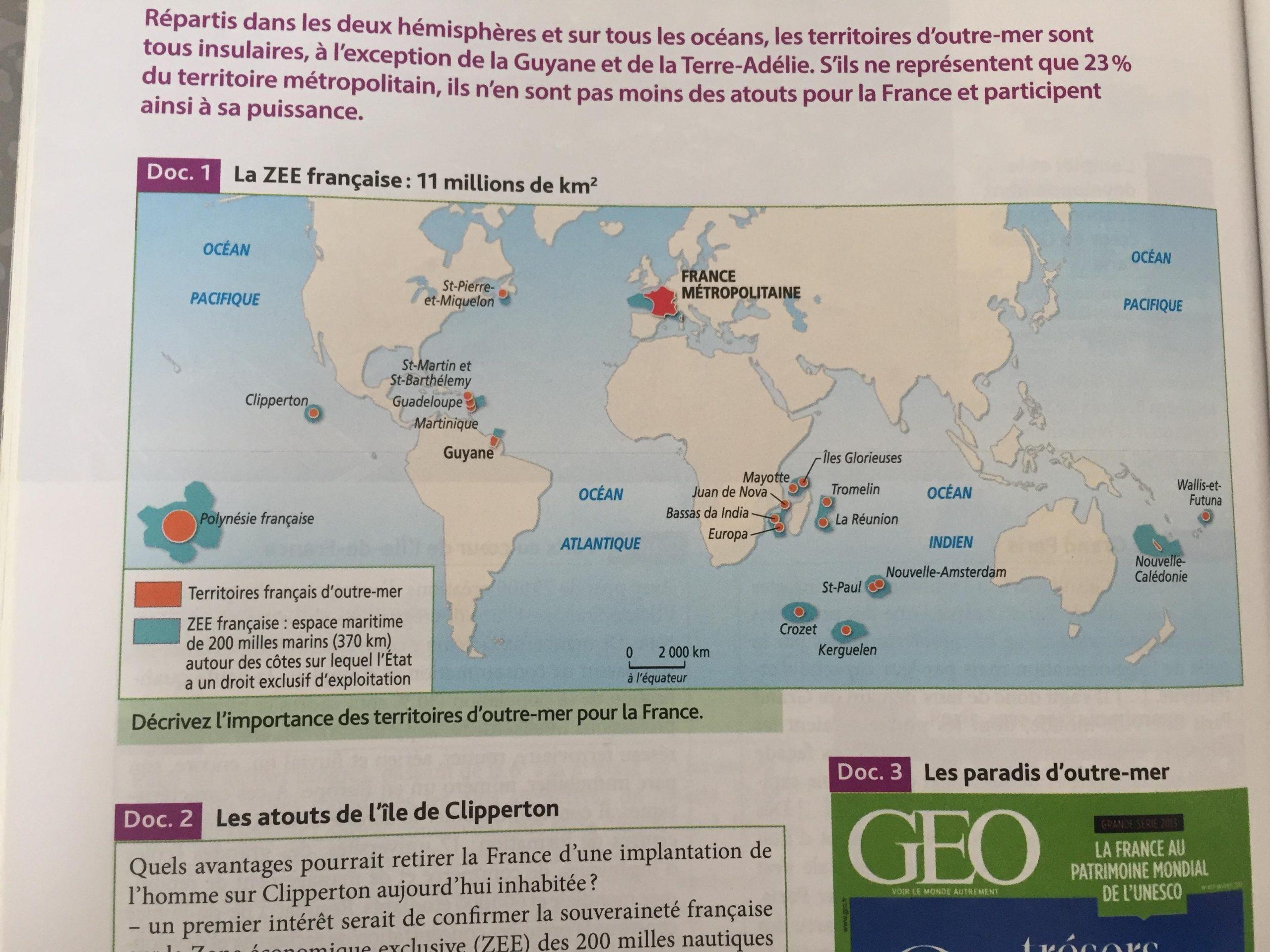 Bonjour, Je Dois Répondre À La Question Suivante : Décrivez tout France Territoires D Outre Mer